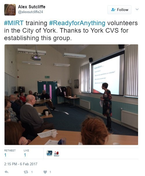 MIRT Major Incident Support Team training