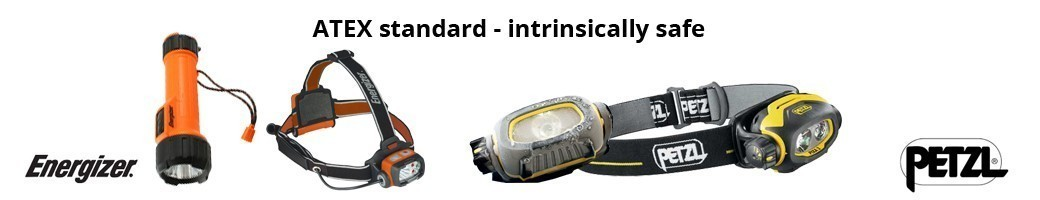 ATEX rated torches - intrinsically safe, ideal for Emergency Preparedness, Fire Safety, Health and Safety