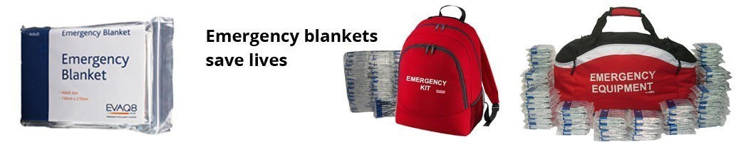 Emergency Blankets save lives | individual blankets, grab bags + emergency kit with foil blankets