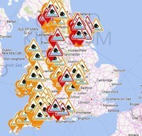UK storm and flood warnings Met Office