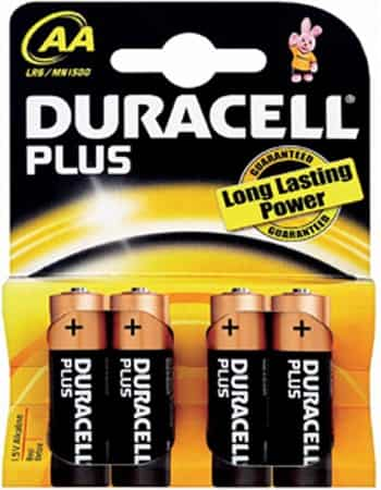 Duracell Plus AA Batteries - pack of four batteries