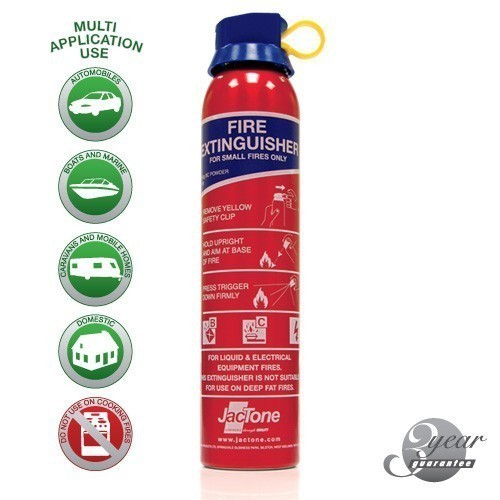 Car Fire Extinguisher 600g Powder BS6165