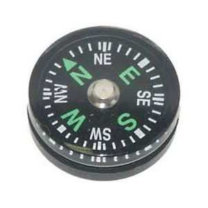 Button Compass For Survival Kits