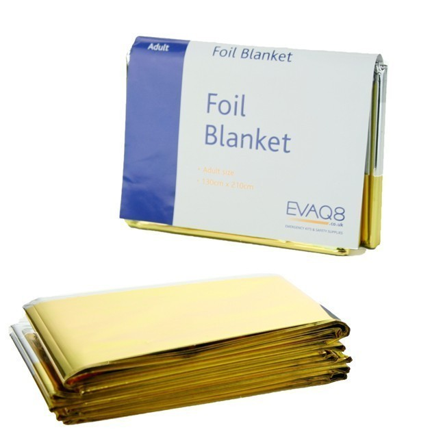 Emergency Foil Blanket Gold Silver