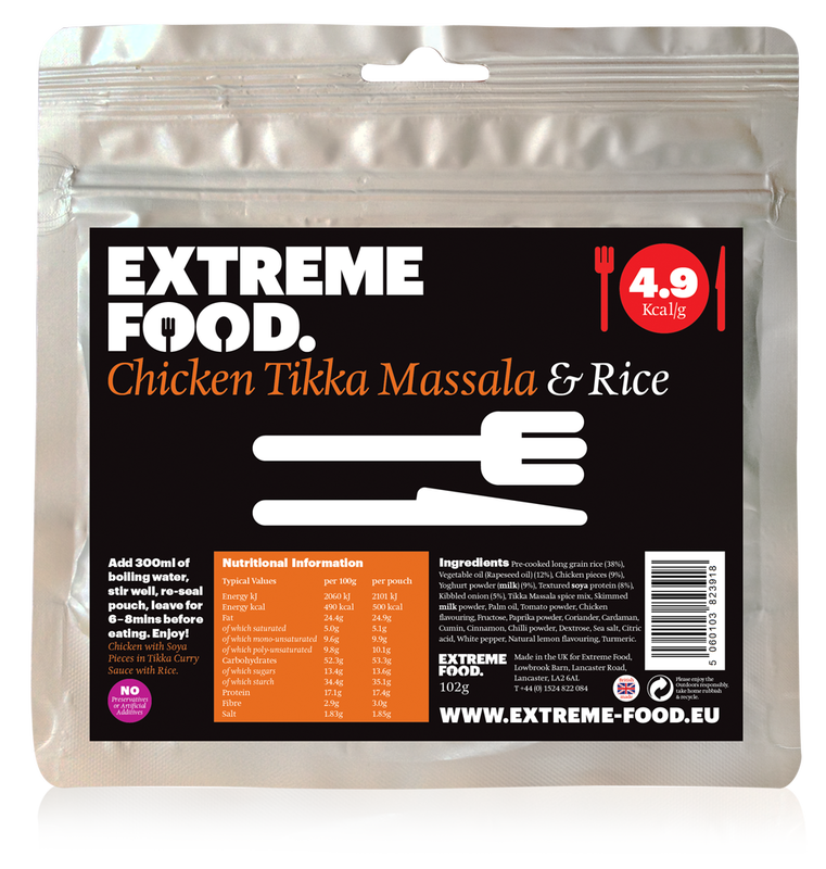 Freeze Dried Chicken Tikka with Rice
