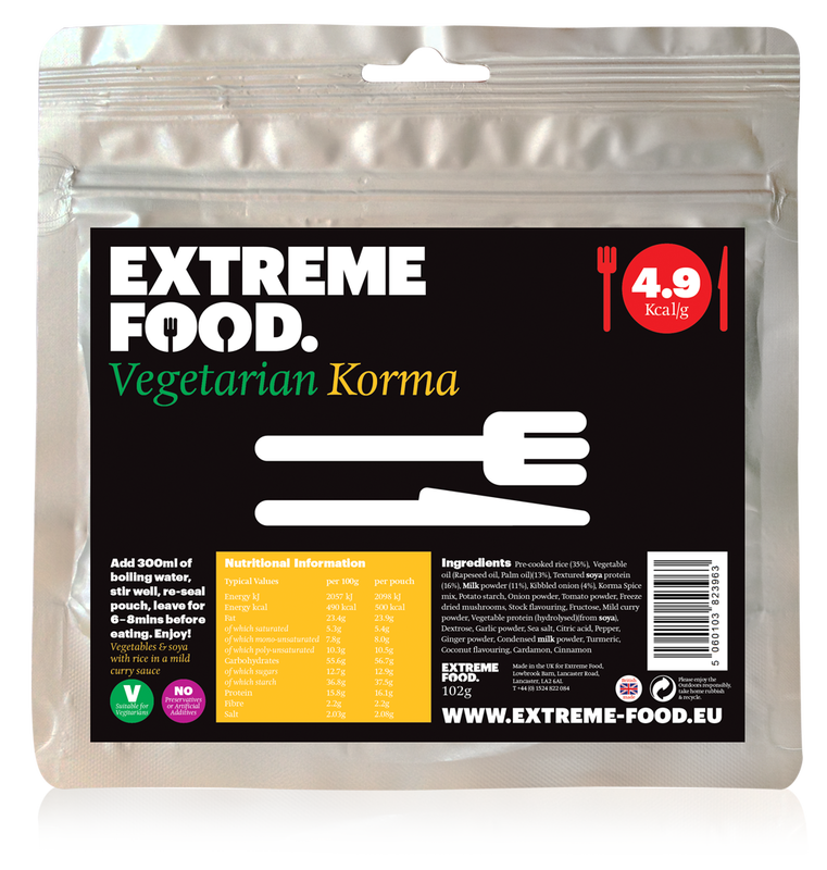 Freeze Dried Vegetarian Korma
