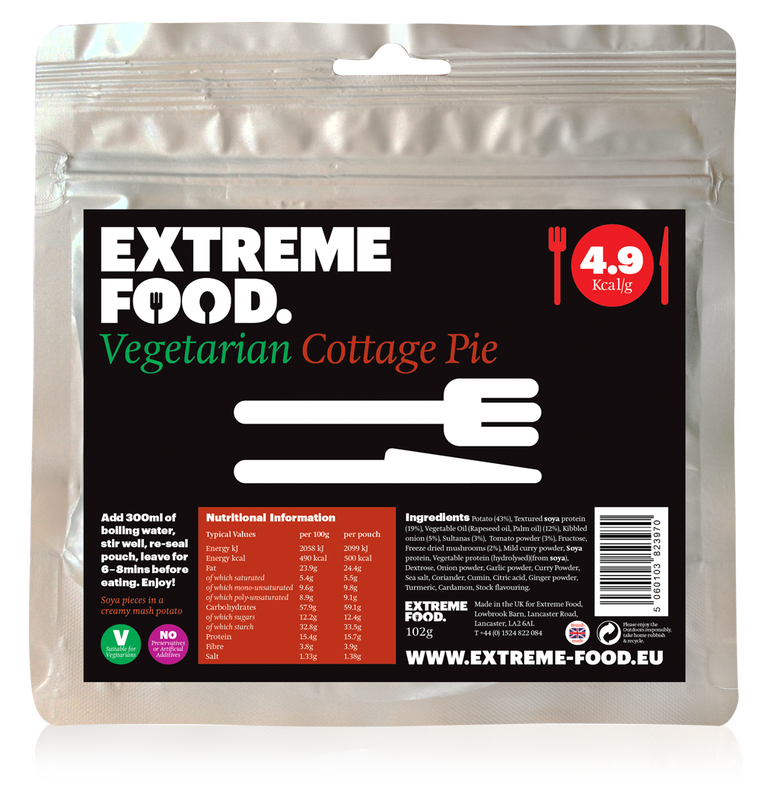 Freeze Dried Vegetarian Cottage Pie