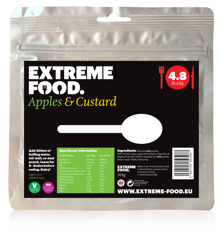 Freeze Dried Apple and Custard Dessert