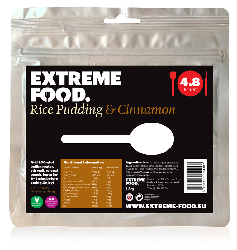 Freeze Dried Rice Pudding with Cinnamon