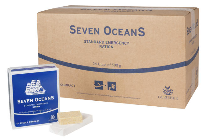 Long-Life Survival Food Rations Box of 24 - 60,000 calories