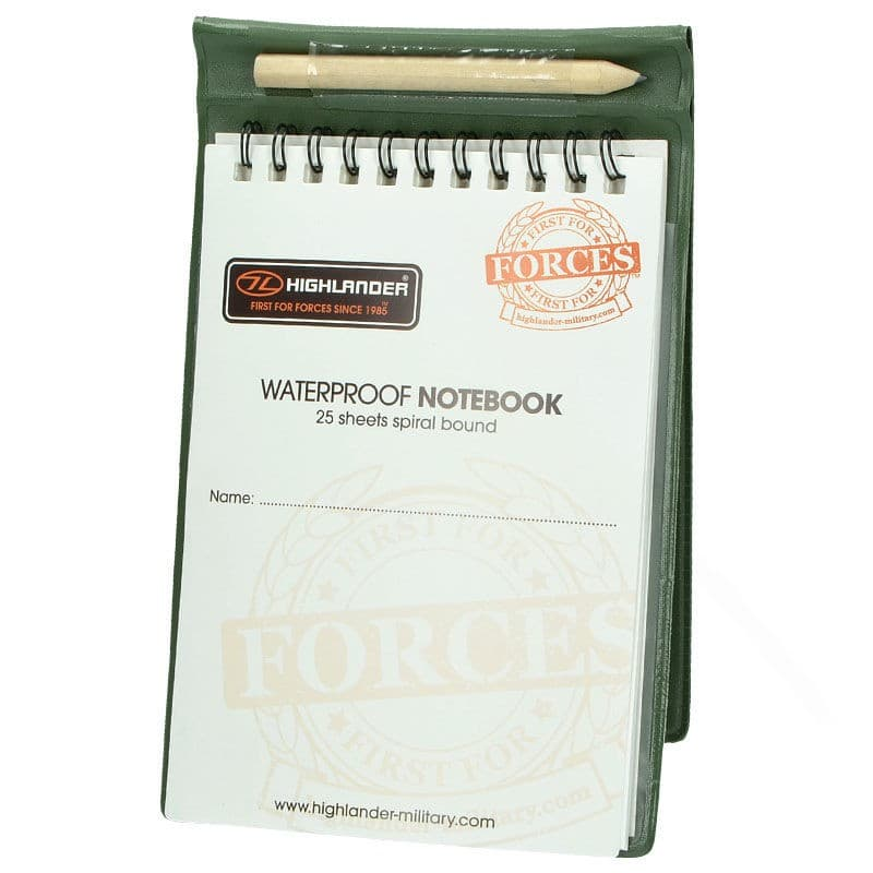 Waterproof and Tearproof Notebook supplied with Pencil