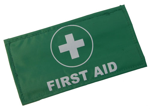 First Aid Armband Green Adjustable Closure