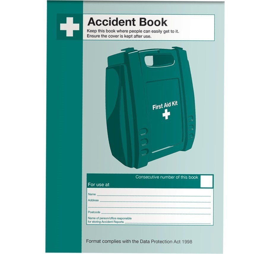 Accident Log Book - Data Protection Act Compliant - A5 Size