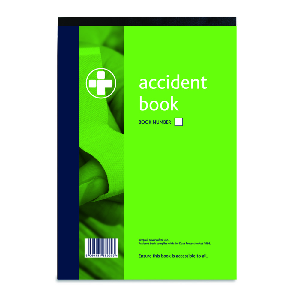 Accident Log Book - Data Protection Act Compliant A4