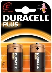 Duracell Plus C Batteries - pack of two