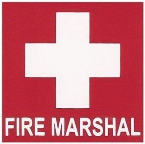 Self Adhesive Sticker Fire Marshal 5x5cm