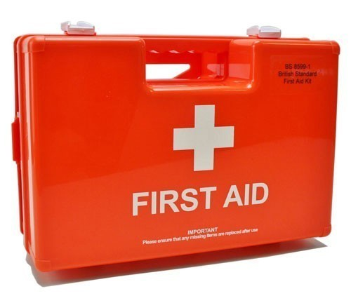British Standard Orange First Aid Box BS 8599-1 Large