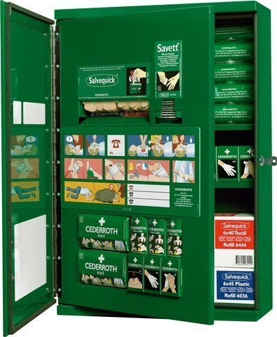 Industrial First Aid Cabinet Cederroth CD13 Double Door