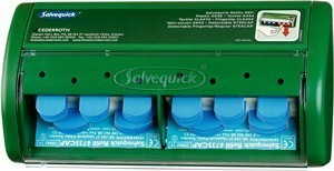 Cederroth Salvequick Plaster Dispenser with 70 Blue Washproof Plasters