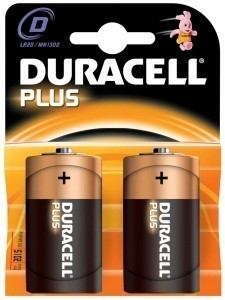 Duracell Plus D Batteries - pack of two