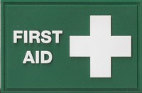 First Aid Rubber Badge