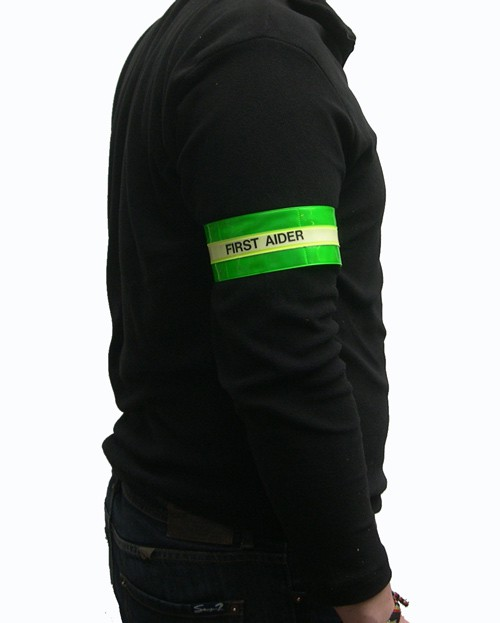 Photoluminescent & Reflective Armband 'FIRST AIDER'