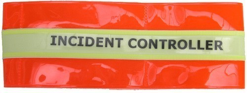 Reflective Armband 'INCIDENT CONTROLLER' with glow in the dark band