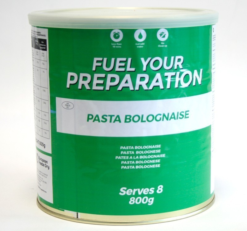 Freeze Dried Tin Pasta Bolognaise