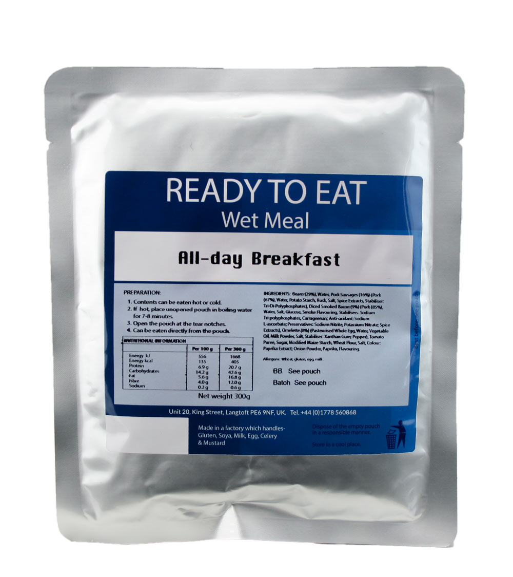 Ready to Eat Wet Meal All Day Breakfast