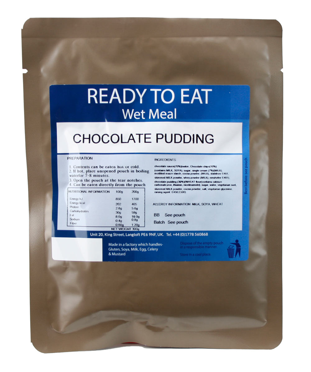 Ready to Eat Wet Meal Chocolate Pudding