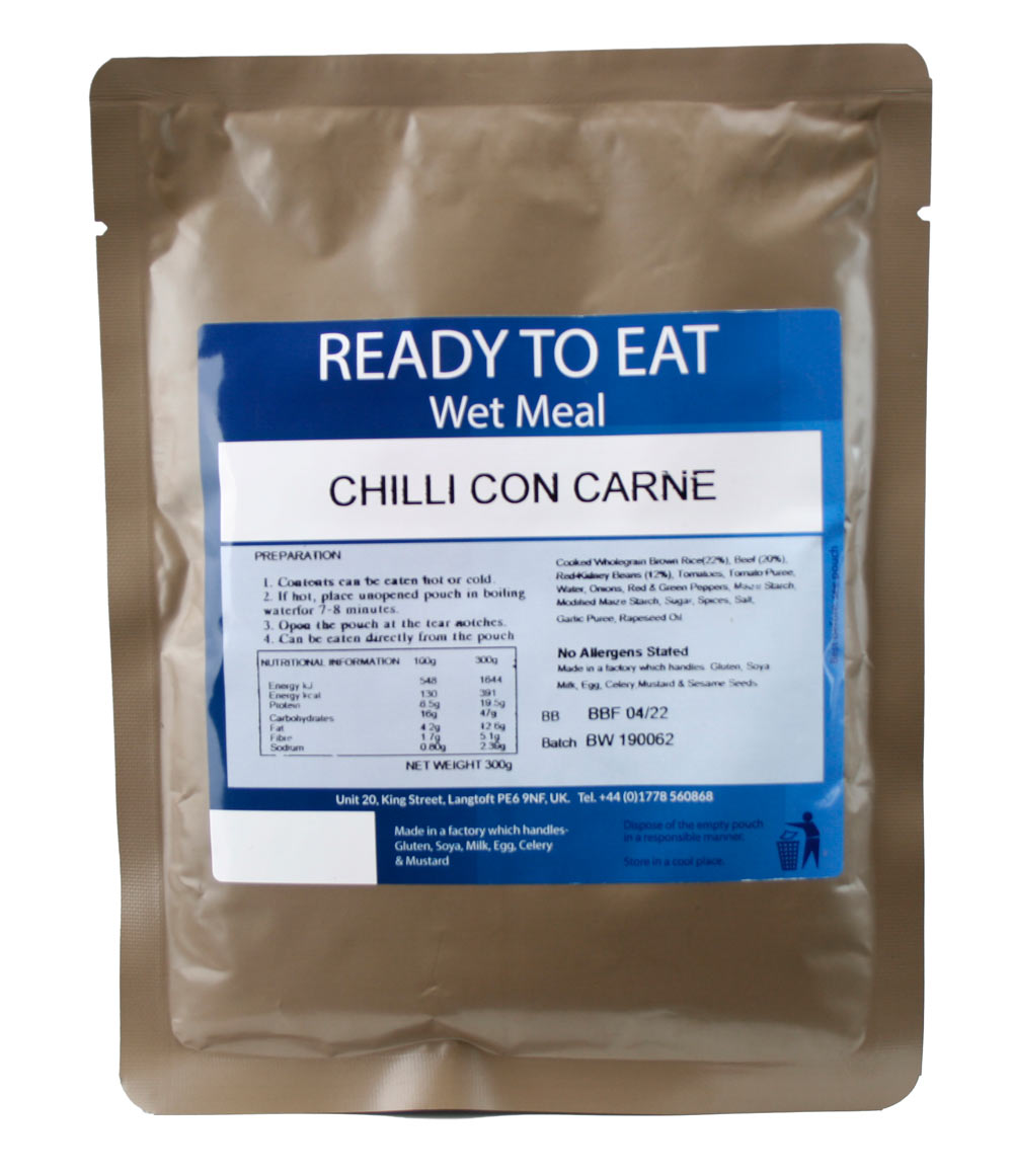 Ready to Eat Wet Meal Chilli Con Carne Gluten Free