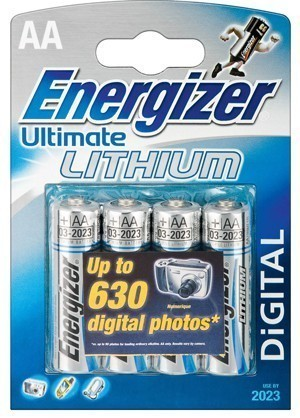 L91 Energizer Lithium Ultimate AA Batteries 4 Pack