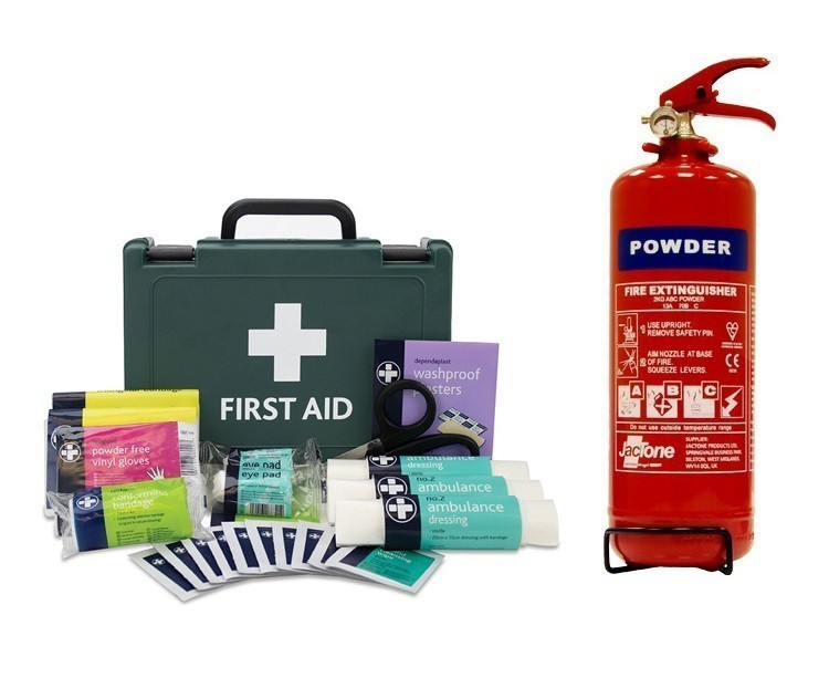 Taxi Fire Extinguisher and First Aid Kit