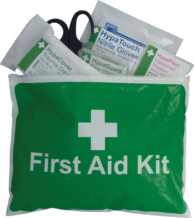 British Standard Motorcycle First Aid Kit in Soft Wallet