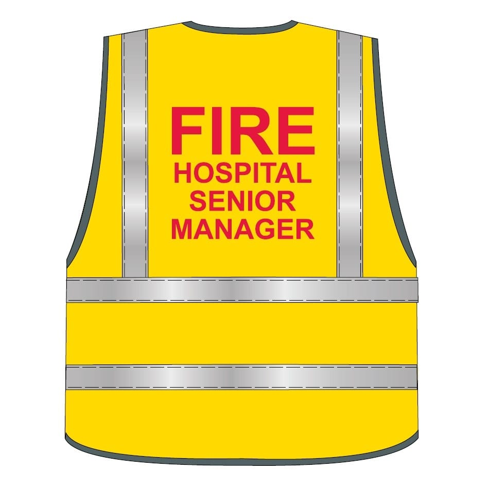 Fire Hospital Senior Manager Vest - HiVis Identification Vest