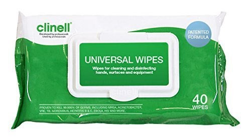 Clinell Universal Hand and Surface Sanitising Wipes - NHS Approved