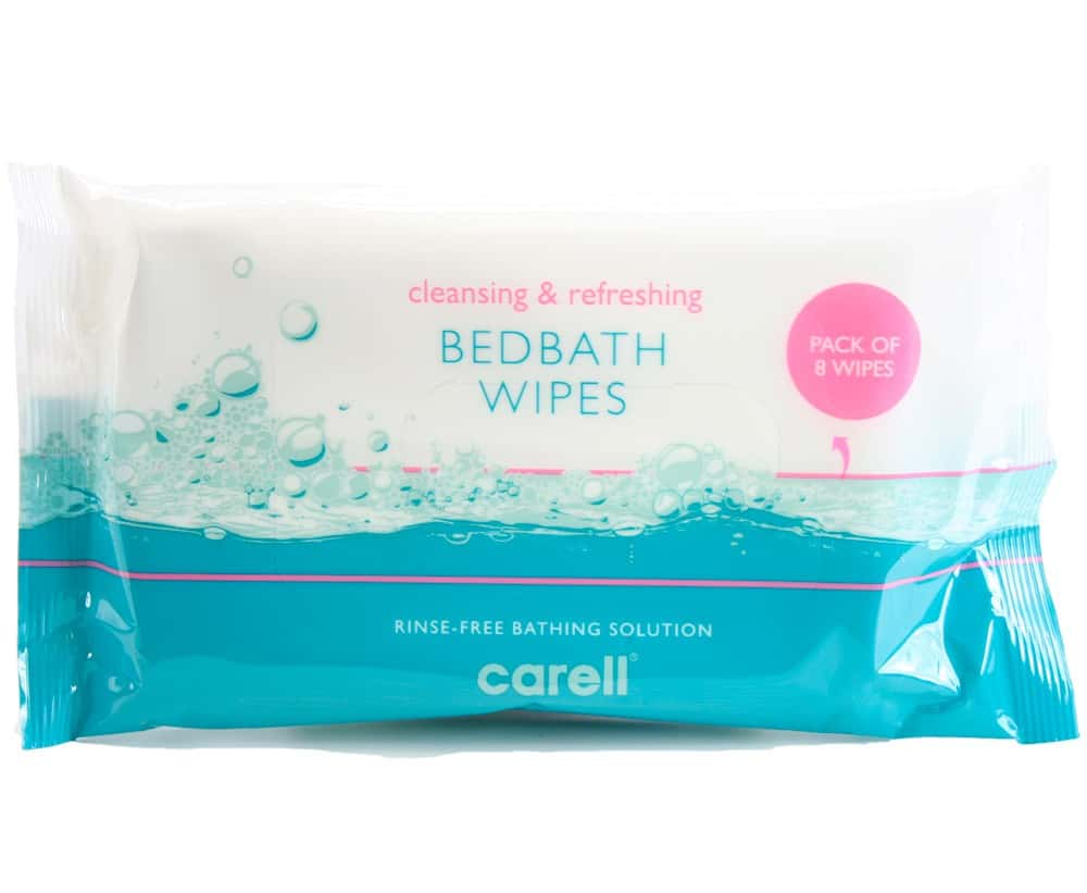 Carell Bedbath Bed Bathing Wipes Pack of 8 Wipes