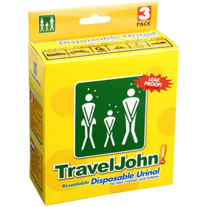 Travel John Disposable Urinal Bag Pack of 3