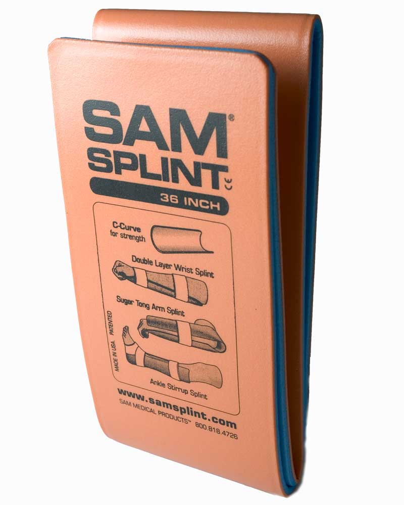 SAM Splint Flat Fold 90cm Multi-Purpose Splint Orange
