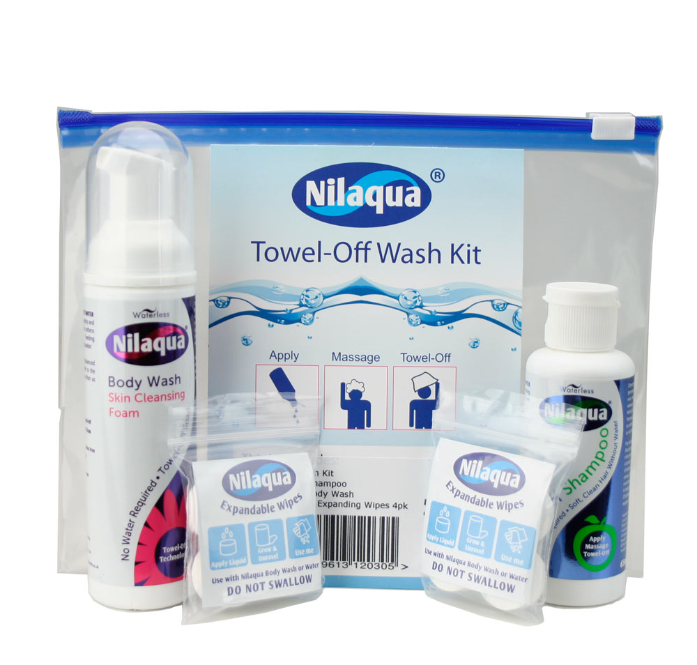 Travel Wash Kit No Water Required