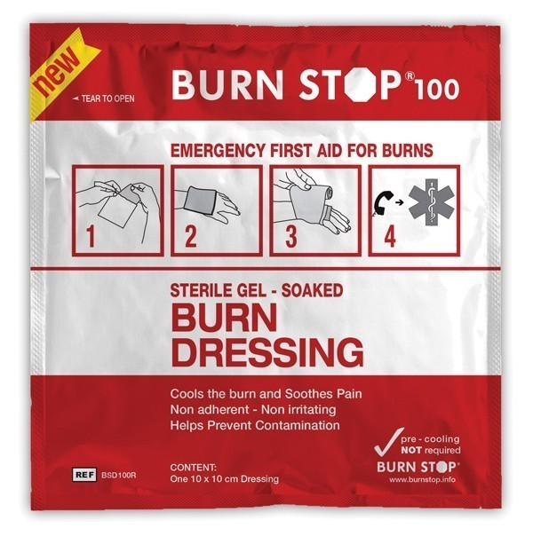 Burn Stop Burns Dressing 10cm x 10cm Gel Soaked