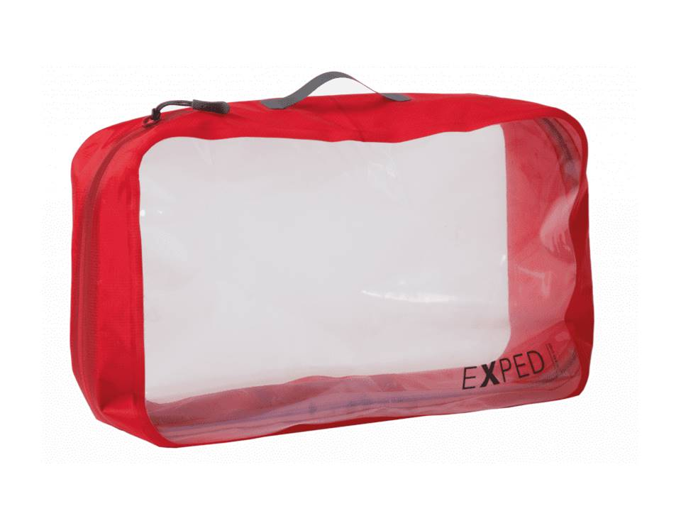Exped Clear Cube Storage Pouch 12L Red X-Large