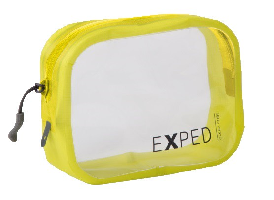Exped Clear Cube Storage Pouch 1L Yellow Small