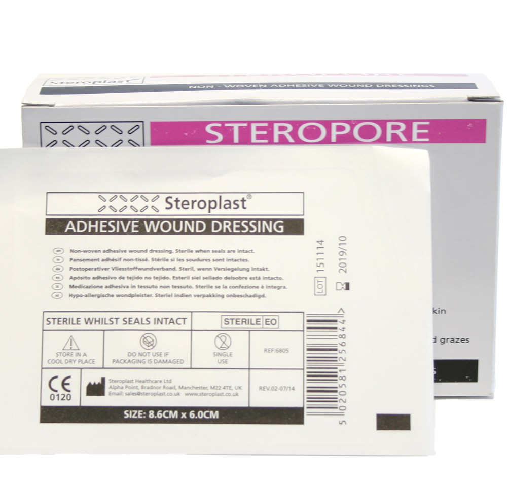 Adhesive Wound Dressing Pack of 25 8.6cm x 6cm