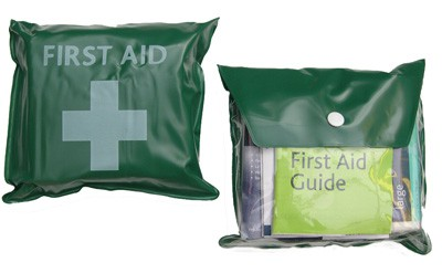 Off-Site Travel First Aid Kit in vinyl wallet