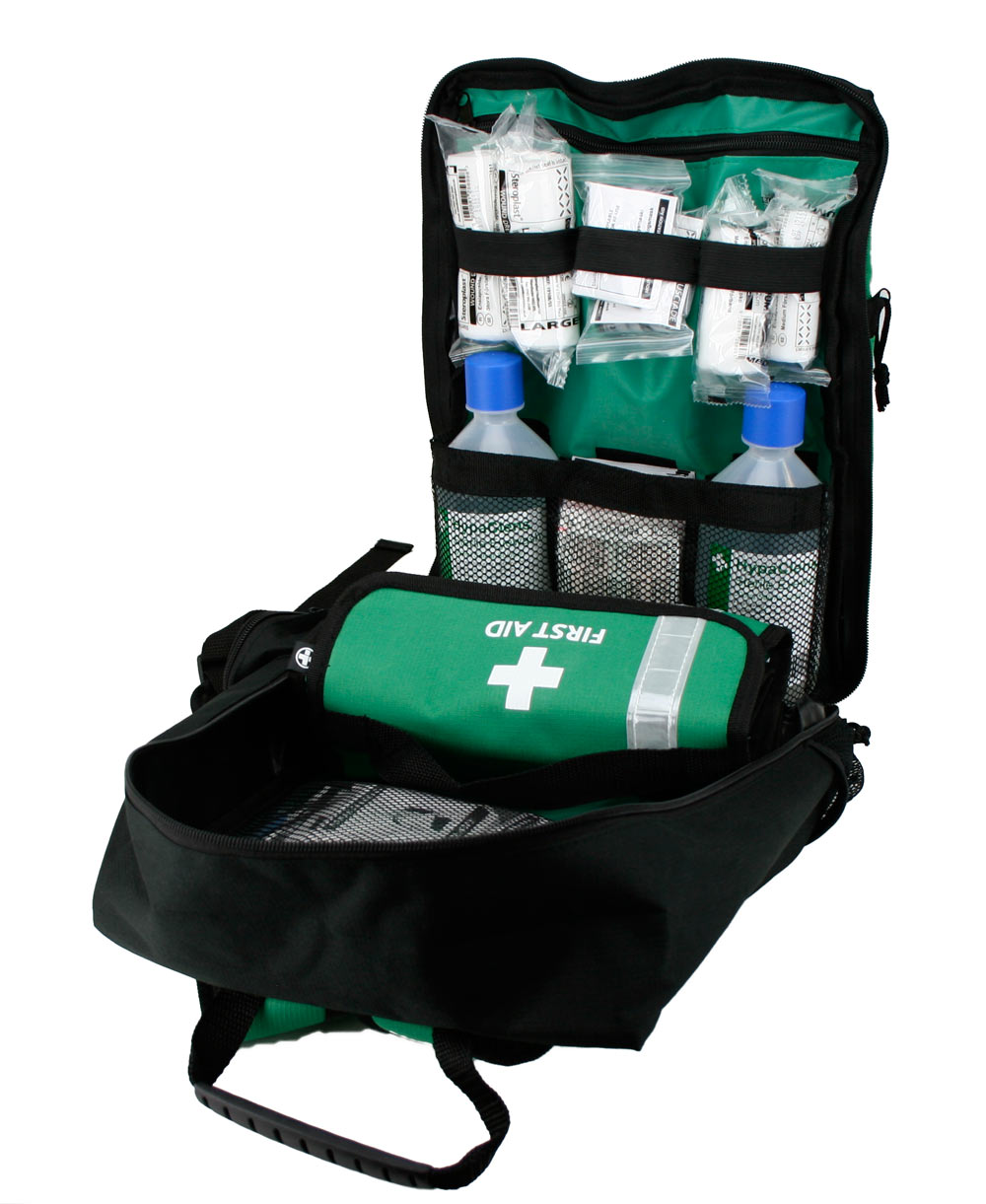 British Standard Compliant First Response Kit in Rucksack (100+ Persons)