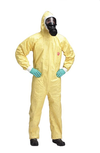 Tychem C Hooded Coverall Protection Against Biohazards & Chemicals