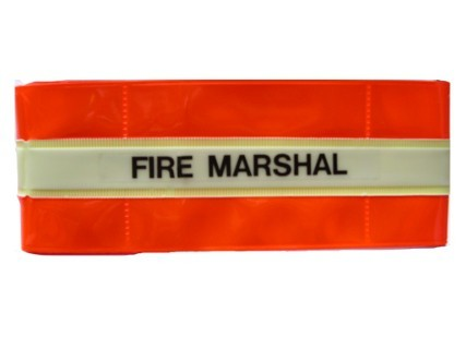 Reflective Armband 'Fire Marshal' with glow in the dark band