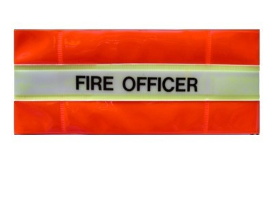 Reflective Armband 'Fire Officer' with glow in the dark band