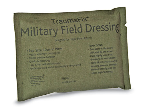 Military Field Dressing Sterile TraumaFix 10 x 19cm
